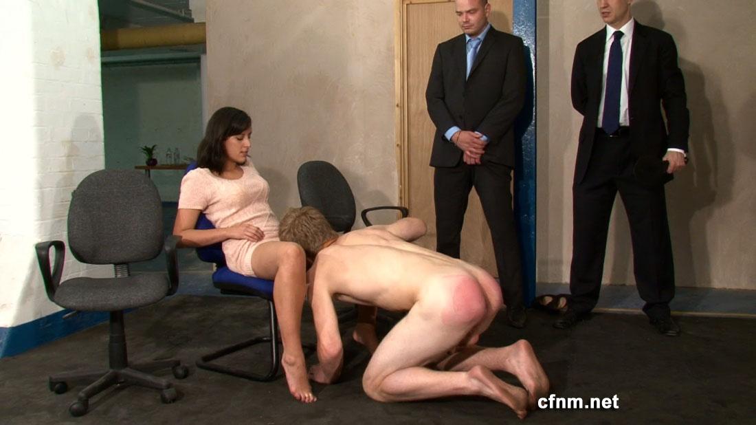 Femdom bisex group humiliation