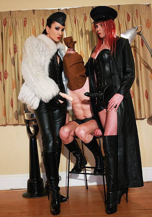 Tranny boot and shoe slave